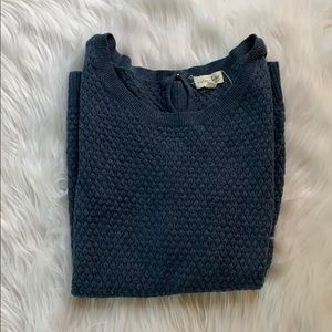 Navy 3/4 Sleeve Sweater